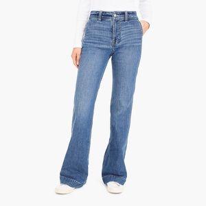 J. Crew Wide Leg Trouser Jeans